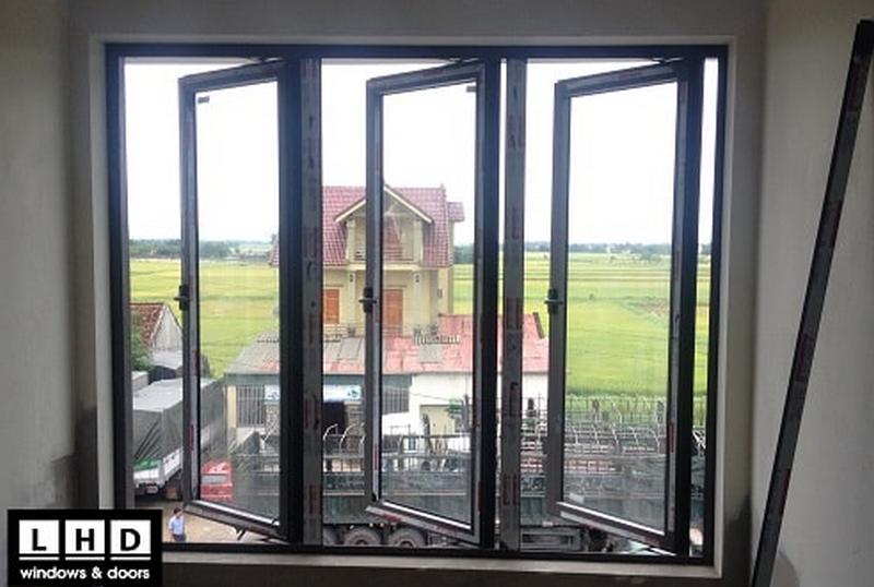 Cửa sổ mở quay nhôm kính Xingfa