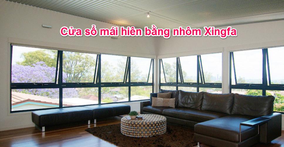 cửa sổ mái hiên bằng nhôm Xingfa