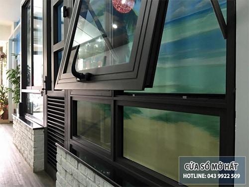 cửa sổ mở hất nhôm xingfa đẹp