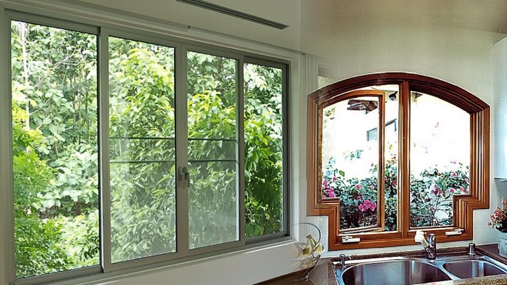 cửa sổ nhôm kính xingfa phòng bếp