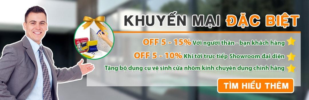 Khuyến mại lớn khi mua cửa nhôm Xingfa