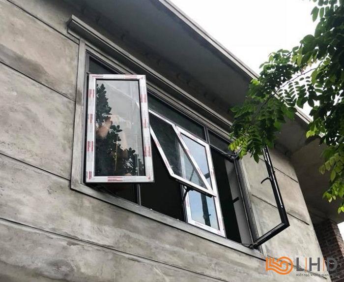 cửa sổ mở quay + mở hất nhôm kenwin