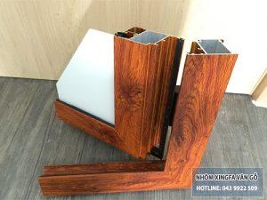 nhôm xingfa giả gỗ