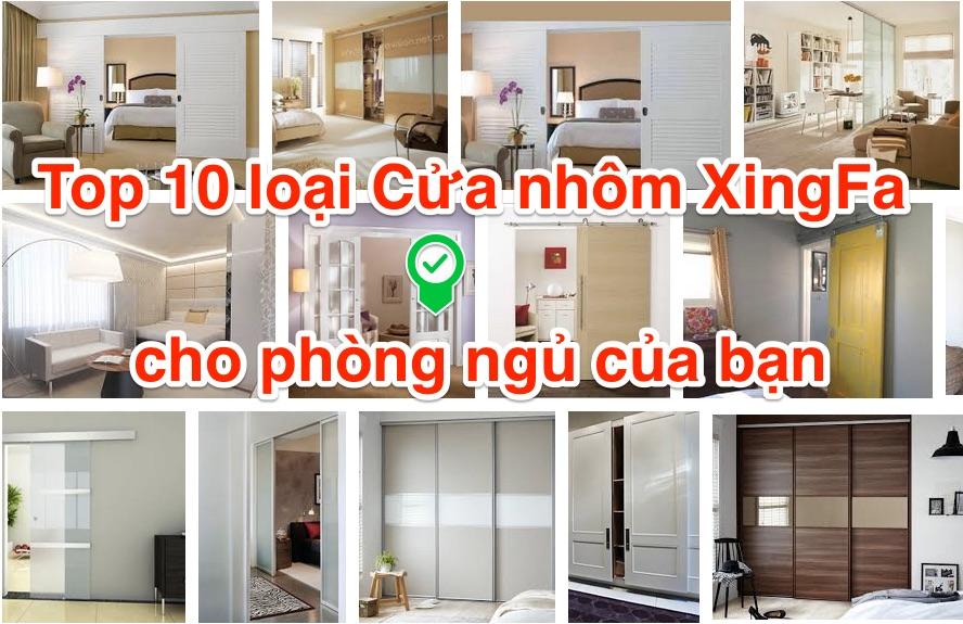 Cửa nhôm kính Xingfa cho phòng ngủ