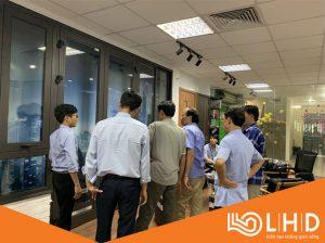 ubnd xã đông phương thái bình thăm showroom cửa nhôm xingfa lhdgroup 2